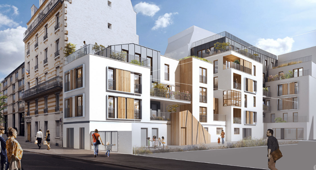 Surélévation de 33 logements à Paris